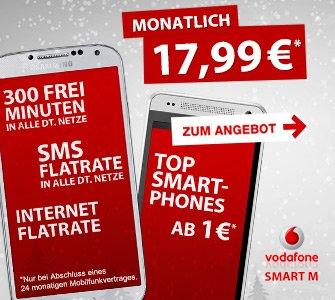 Original Vodafone Smart M für nur 17,99 statt 19,99 mit z.B. Apple iPhone 4S 8GB und anderen.