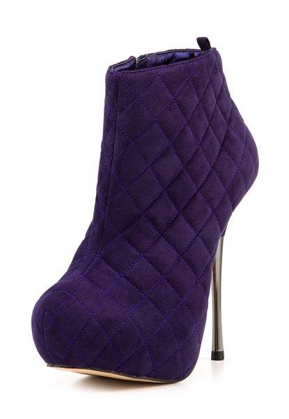 Buffalo Plateau-Stiefeletten High Heels Damenschuhe, 13 cm Absatz, lila, 32,90 Euro @ ebay