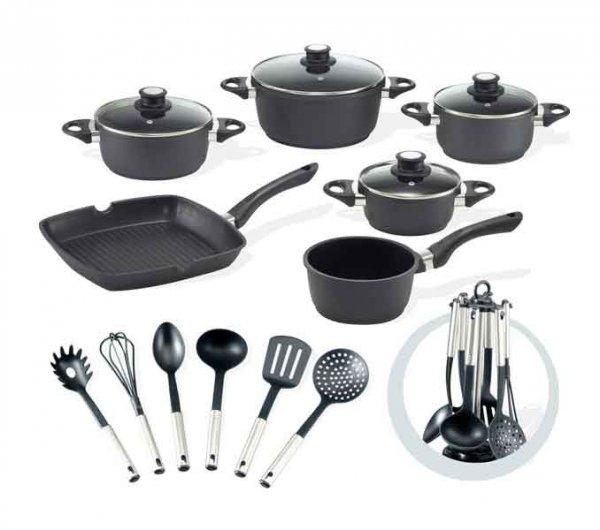 BEEM F 3000.700 Startherm Topfset 17-teilig + Küchenhelfer-Set für 49,99€ frei Haus @ebay