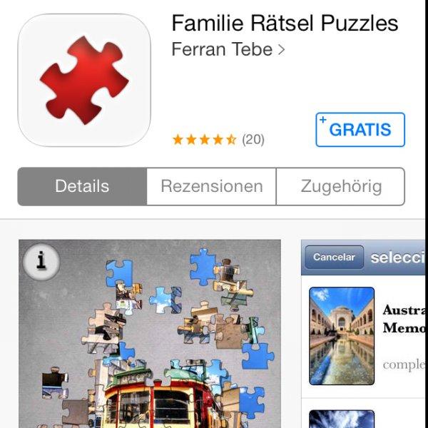 Familie Gratis Puzzle (iOS / iPhone) heute gratis! - Bitte Löschen!