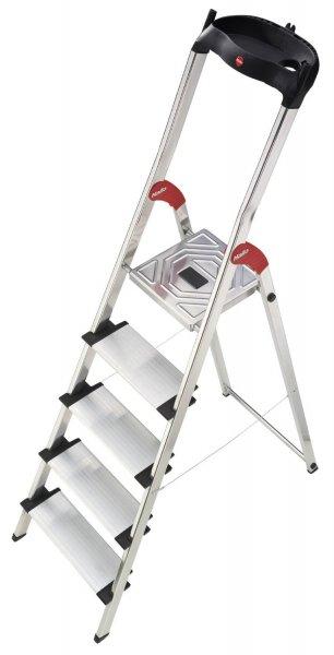Hailo Aluminium Sicherheitsleiter Profistep XXL mit 5 Stufen (extra breit) für 42,95€ @ Ebay