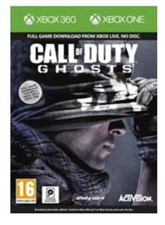 [Amazon.co.uk] Call of Duty Ghosts Digital Download Code Bundle für Xbox One & Xbox 360 (beide Versionen enthalten) für 40,54 € inkl. Versand