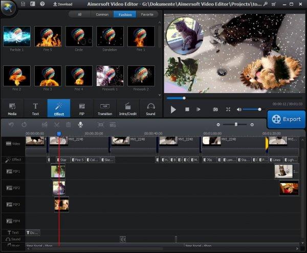 Aimersoft Video Editor Freebie (mit mehreren Spuren)