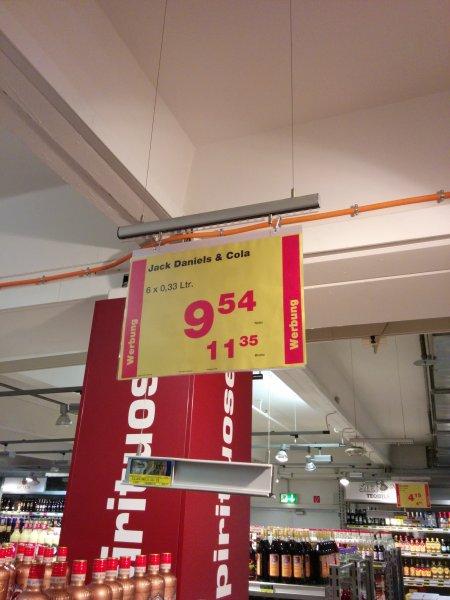 [METRO] Jack Daniels & Cola - 6 Dosen für 11,35€ Brutto (1 Dose = 1,89€)