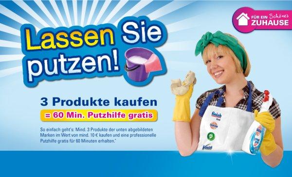 Gratis Putzfrau für 1 Stunde – Lassen Sie putzen! –  3 Artikel von Reckitt Benckiser für mind. 10€ kaufen => Putzhilfe für 1h kostenlos
