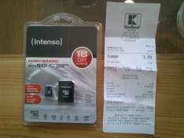Intenso Micro-SD Karte (Class 10) 16GB inkl. Adapter @ Kaufland (LOKAL Stollberg, Zwickau)