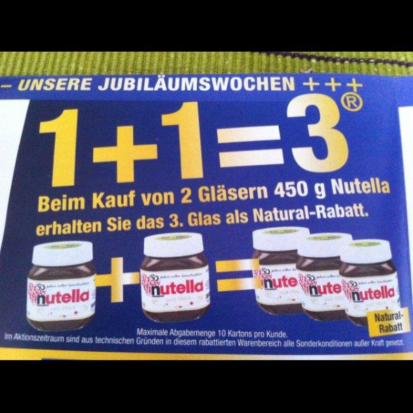 [Metro] 1 Glas Nutella geschenkt beim Kauf von 2!