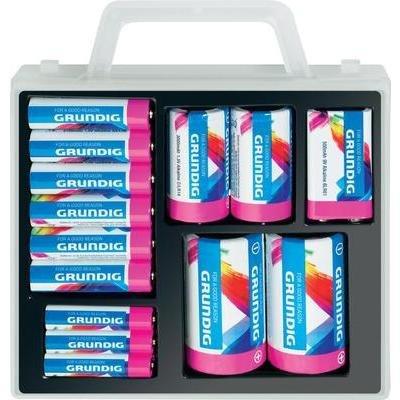 [Conrad] Bundesweit Grundig Alkaline-Batterien-Box 12 x Mignon, 6 x Micro, 2 x Baby, 2 x Mono und 1 x 9 V-Block