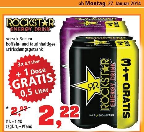 Rockstar Energy Drink 4 Dosen für 2,22 € ab Montag bei Thomas Philipps
