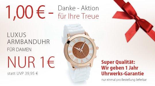 Armbanduhr für Frauen nur 1 € + Versandkostenfrei ab 10€