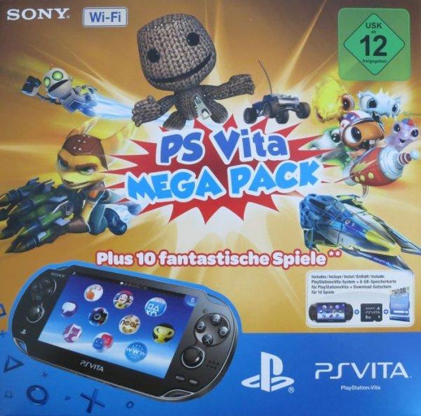 [Saturn - nur Österreich] - SONY PS Vita Wi-Fi / PS Vita Mega Pack 1 (10 Spiele, 16GB) 149,90 inkl. Versand