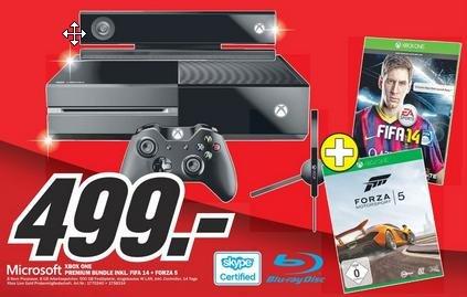 [Lokal] Mediamarkt Offenburg Xbox One inkl. Fifa 14 und Forza 5