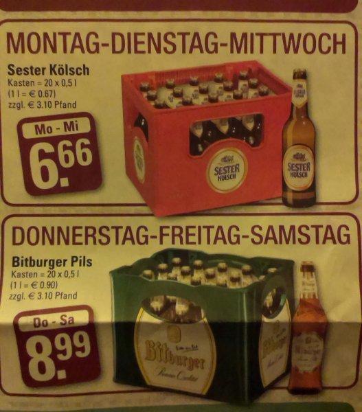 [Lokal NRW / Widdersdorf, Edeka Engels] Bitburger Pils für 8.99€ oder Sester Kölsch 6.66€