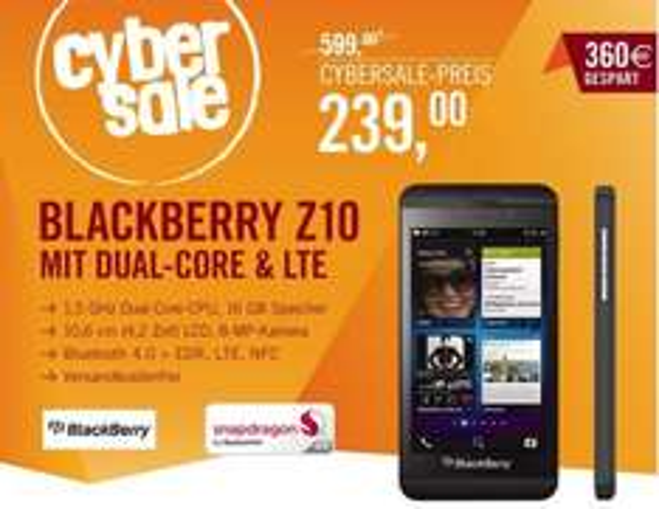Blackberry Z10 für 239€ - A-Ware