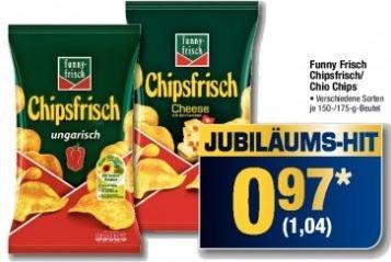 Metro: Chipsfrisch versch. Sorten für 1,04€
