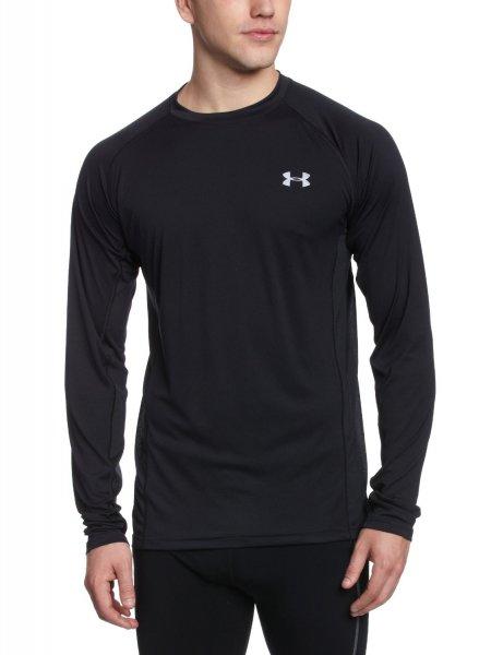 """Under Armour™ - Herren Langarm-Laufshirt """"Heatgear Flyweight"""" (Black) für €22,55 [@TheHut.com]"""