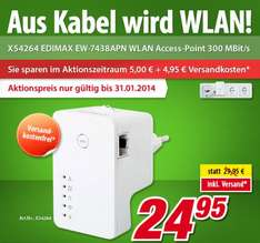 "Edimax™ - WLAN Access-Point ""EW-7438APN"" (300 MBit/s) ab €24,53 [@Voelkner.de]"