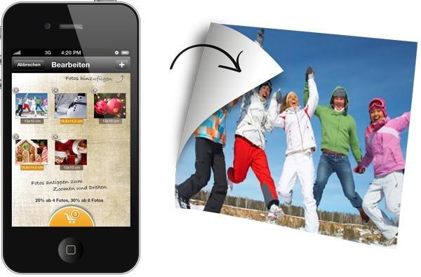 1 großes und 1 kleines Flexiphoto inkl. Versand kostenlos für iOS