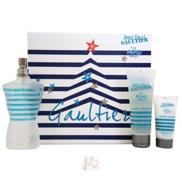 """Jean Paul Gaultier™ - Geschenkset """"Le Beau Male"""" (EDT 125 ml + DG 75 ml + AS 30 ml) für €39,95 [@MeinPaket.de]"""