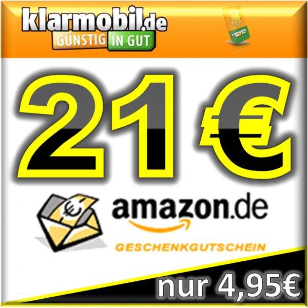 klarmobil SIM-Karte mit 15,00€ Startguthaben + 21,00€ AMAZON-Gutschein