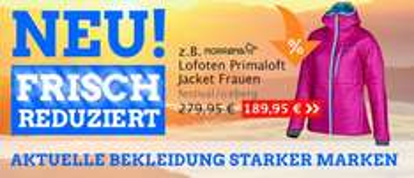 Frische Reduzierungen + bis 60 % sparen bei Globetrotter.de