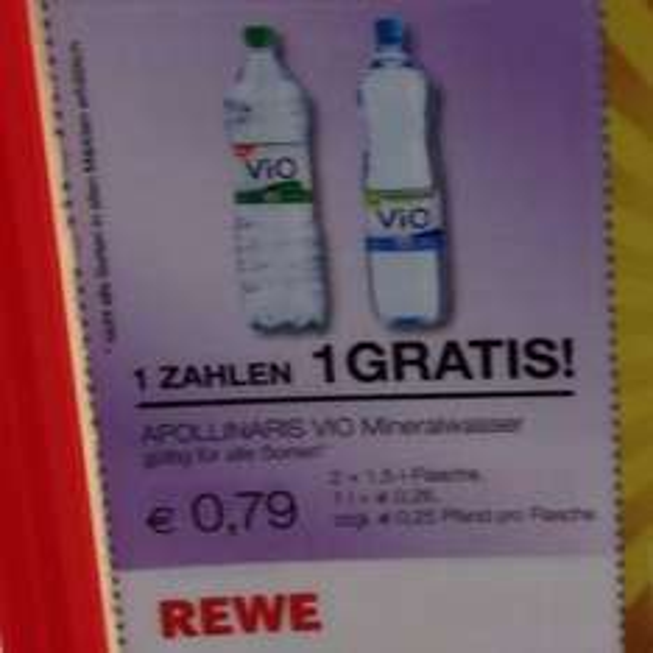 Apollinaris VIO Mineralwasser (2für1) - alle Sorten - REWE Hamburg
