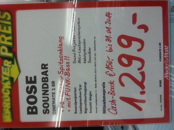 [Media Markt Ludwigsburg / Stuttgart] BOSE CineMate 1SR für 1299€ + 50€ Gutschein // Zusätzlich 150€ Cashback möglich [Note 1,4 bei 16 Tests]