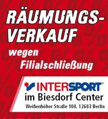 lokal Berlin Biesdorf: Intersport / Räumungsverkauf wegen Filialschließung