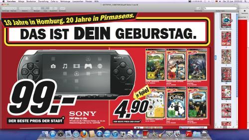 Sony PSP Slim & Lite für 99€ bei Media Markt Homburg