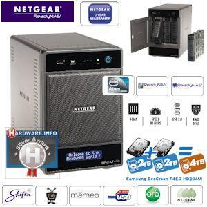 Netgear ReadyNAS Ultra 4 mit  2x2TB Festplattenspeicher
