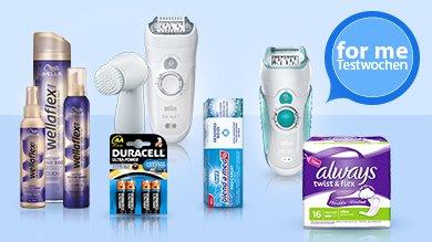 forme Testwochen einige Produkte von P&G testen