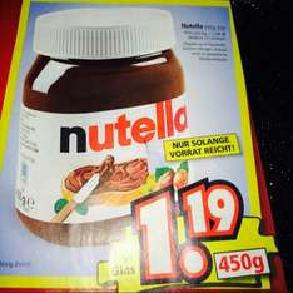Nutella 450Gramm für nur 1,19€