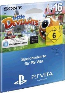 Speicherkarte Sony PS Vita (16 GB) Memory Card inklusive Little Deviants Gutschein zum Download