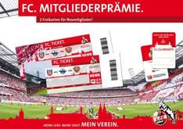 Mitglied werden beim 1. FC Köln - 2 Freikarten ergattern!