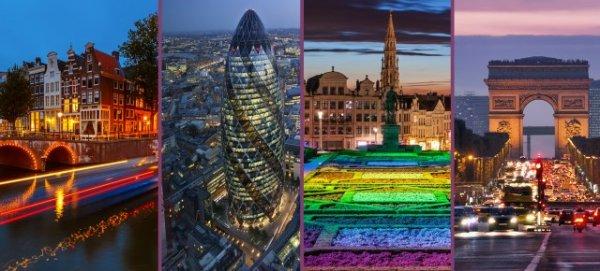 Europa Rundreise mit Megabus: Brüssel, Amsterdam, Paris und London für nur 85€
