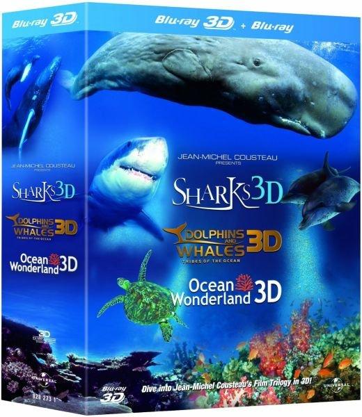Jean-Michel Cousteau's Film Trilogy (3x 3D Blu-ray) für 9,69€ @Zavvi