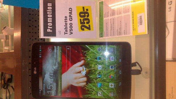 [Lokal Luxemburg]: LG G Pad 8.3 V500 für 259€ @Cactus