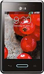 LG Optimus L3 II Schwarz/metallisch android 4.1 Jelly Bean