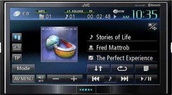 x09JVC KW-AV70BTE Doppel-DIN AV-Receiver (17,8 cm (7 Zoll) Touchscreen, DVD-Player, neuwertige Aussteller