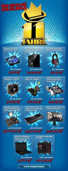 [11 Jahre Caseking Sammeldeal] - 11 Produkte mit Rabatten, z.B. Zaward 120 mm Lüfter für 99 Cent, EVGA Geforce GTX 770 Superclocked 269,90 Euro