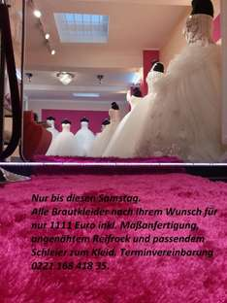 [Lokal Köln] ALLE Brautkleider nach Wahl inkl. Maßanfertigung für nur 1111€