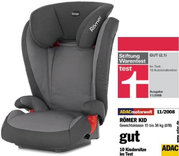 RÖMER Autositz Kid Crown Stone Grey, 15-36 kg (4-12 Jahre) für € 72,90 bei baby-markt.de
