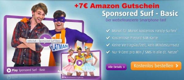 Netzclub Gratis Prepaid + 7€ Amazon Gutschein