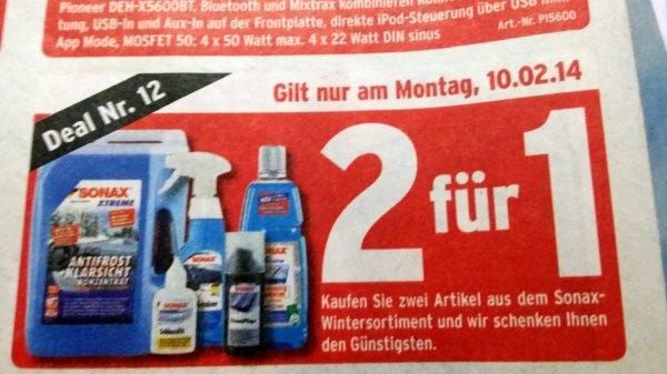 [ATU OFFLINE] Sonax-Wintersortiment 2 für 1 z.B. Scheibenwischerwischwaschwaschflüssigkeit