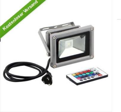 Ebay Aluminium LED Gartenfluter - IP65 Norm-  mit 16 verschieden Farben - Fernbedienung steuerbar -  10,48 € inklusive Versandkosten