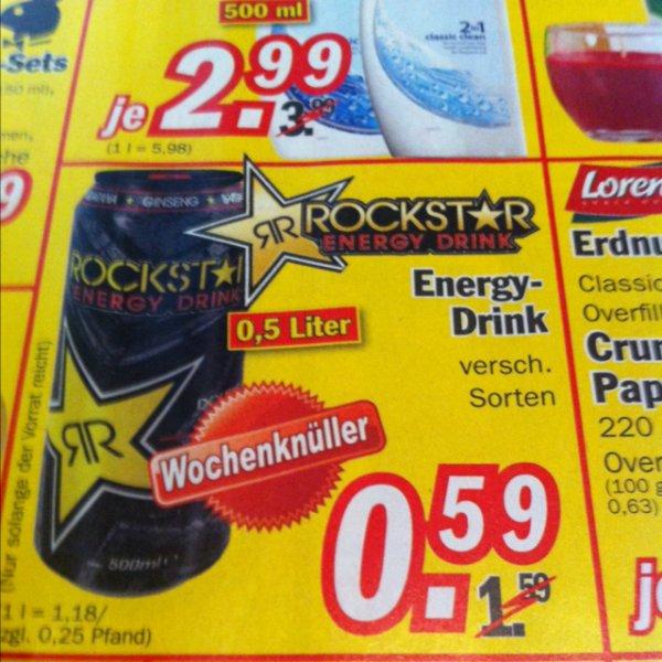 Rockstar verschiedene Sorten für je 0,59€ @zimmermann nordhorn [lokal?]