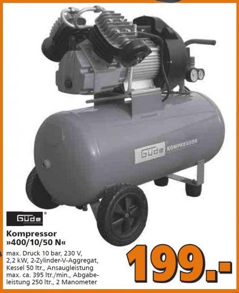 Güde Kompressor 400/10/50 N 199€ im Globus-Baumarkt (bundesweit?)