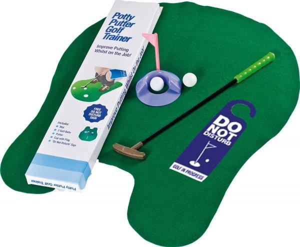 Golf-Set für die Toilette