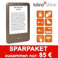 """Tolino Shine eBook Reader inkl. 1 Jahr lang Zeitschrift """"Freundin"""" oder """"Donna"""" für 85€"""