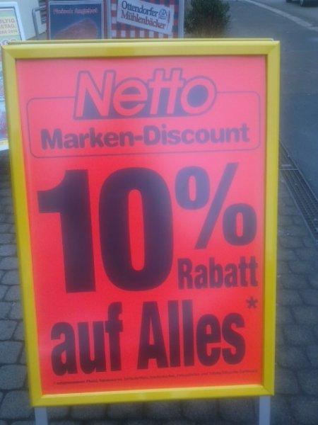 LOKAL Dresden 10%  auf alles bei Netto bis heute 20.00 Uhr